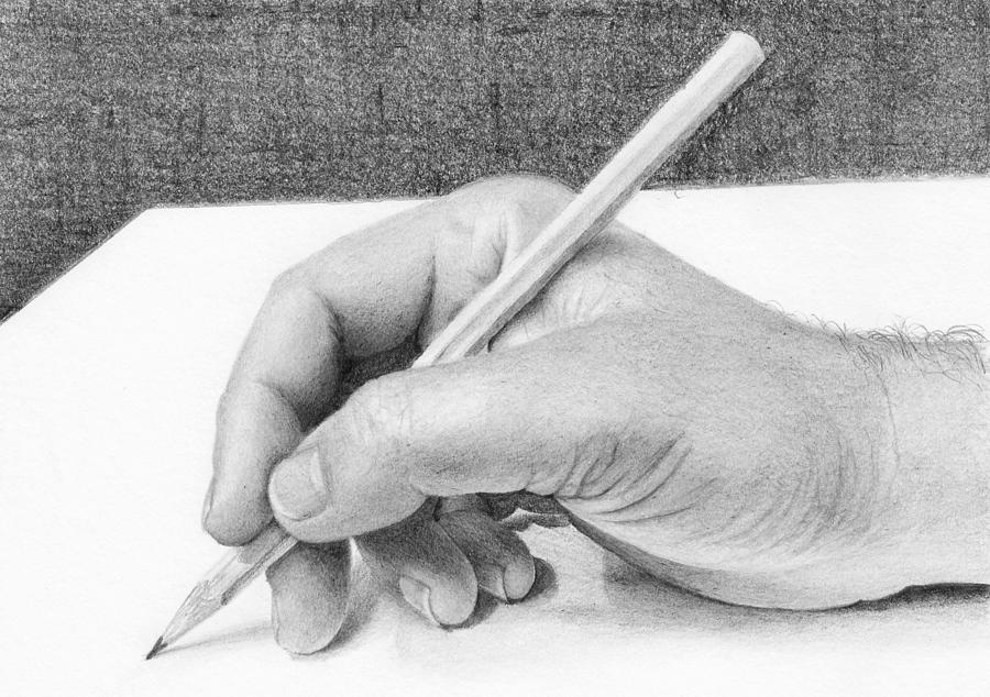 Pencil Drawing - Hand by Nolan Clark