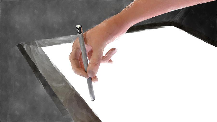 Artist Digital Art - Hand Of An Artist by Michael Mills