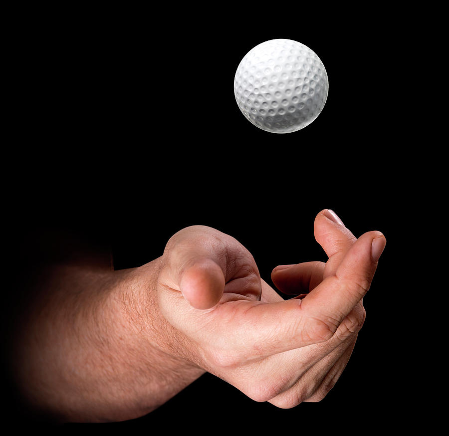 Hand Tossing Golf Ball Digital Art By Allan Swart