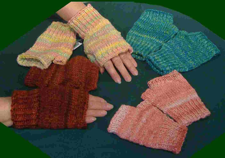 Wool Tapestry - Textile - Hand Warmers by Michelle Whisler Malabar Farm Spinning and Weaving Guild