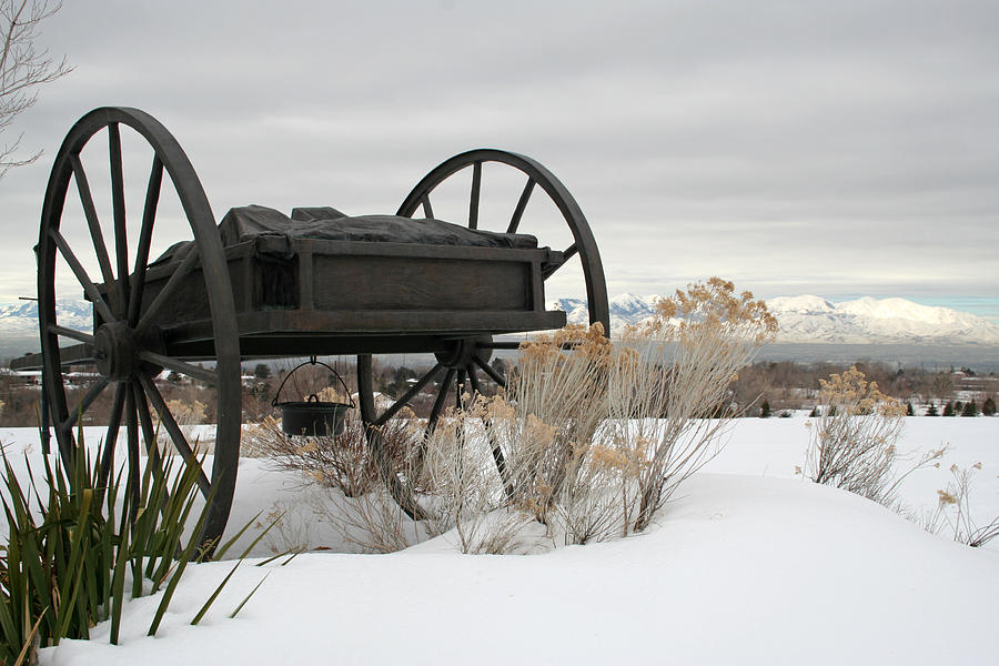Handcart Photograph - Handcart Monument by Margie Wildblood