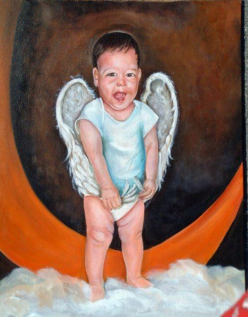 Angel Painting - Handful Of Feathers by Gwendolyn Frazier