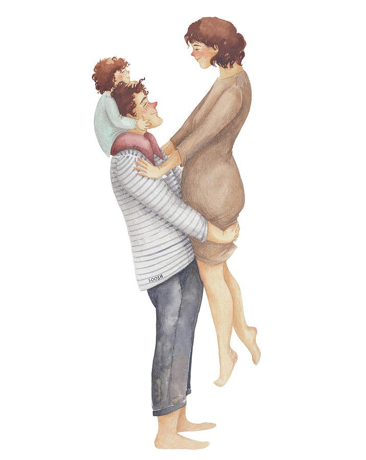 Soosh Drawing - Handful of Love by Soosh