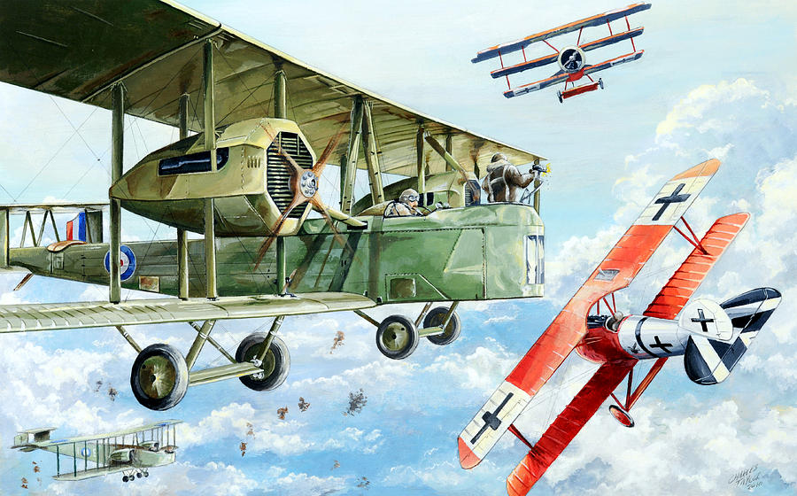Bomber Painting - Handley Page 400 by Charles Taylor