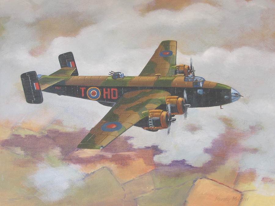 Halifax Painting - Handley Page Halifax by Murray McLeod