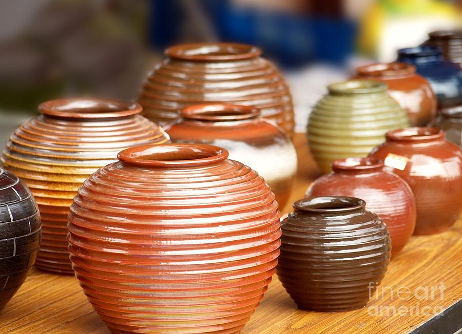 Handmade Pottery Photograph By Yali Shi