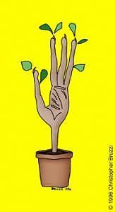 Hand Digital Art - Handplant by Christopher Bruzzi