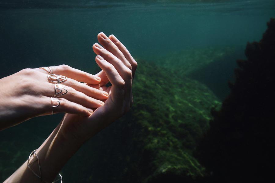 Swim Photograph - Hands by Gemma Silvestre