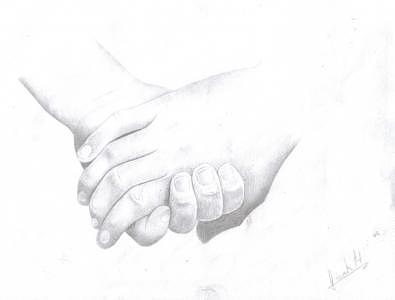 Hands Drawing by Hands