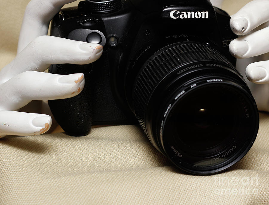 Camera Photograph - Hands in Still Life  by Steven Digman