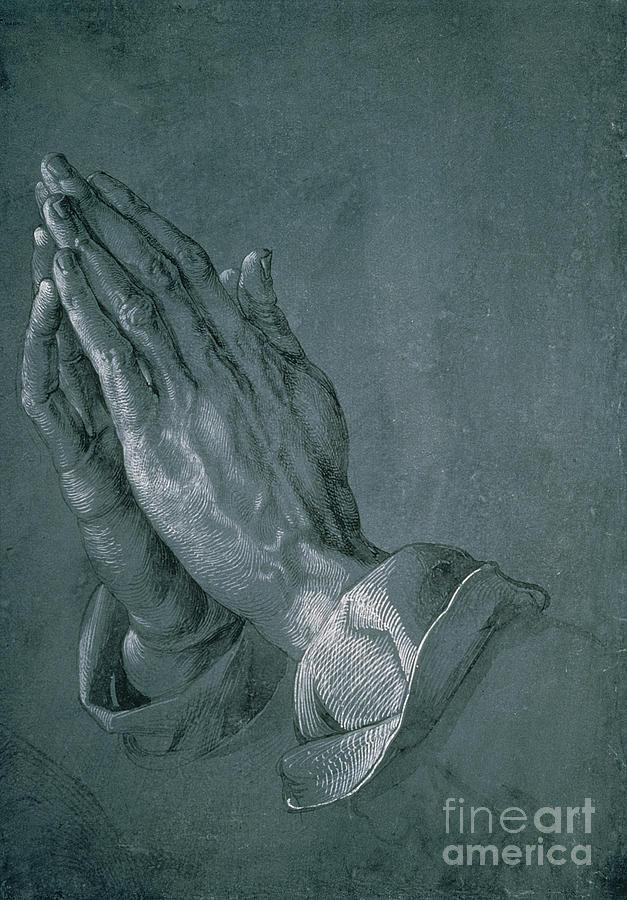 Prayer Drawing - Hands Of An Apostle by Albrecht Durer