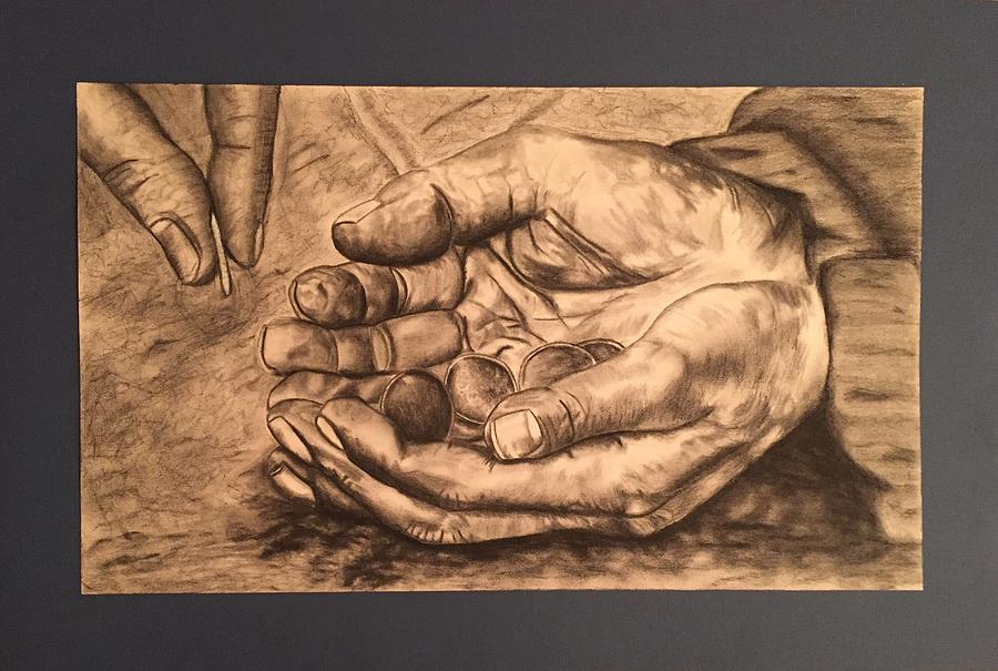 Hands Drawing - Hands Of Poverty by Morgan Morano