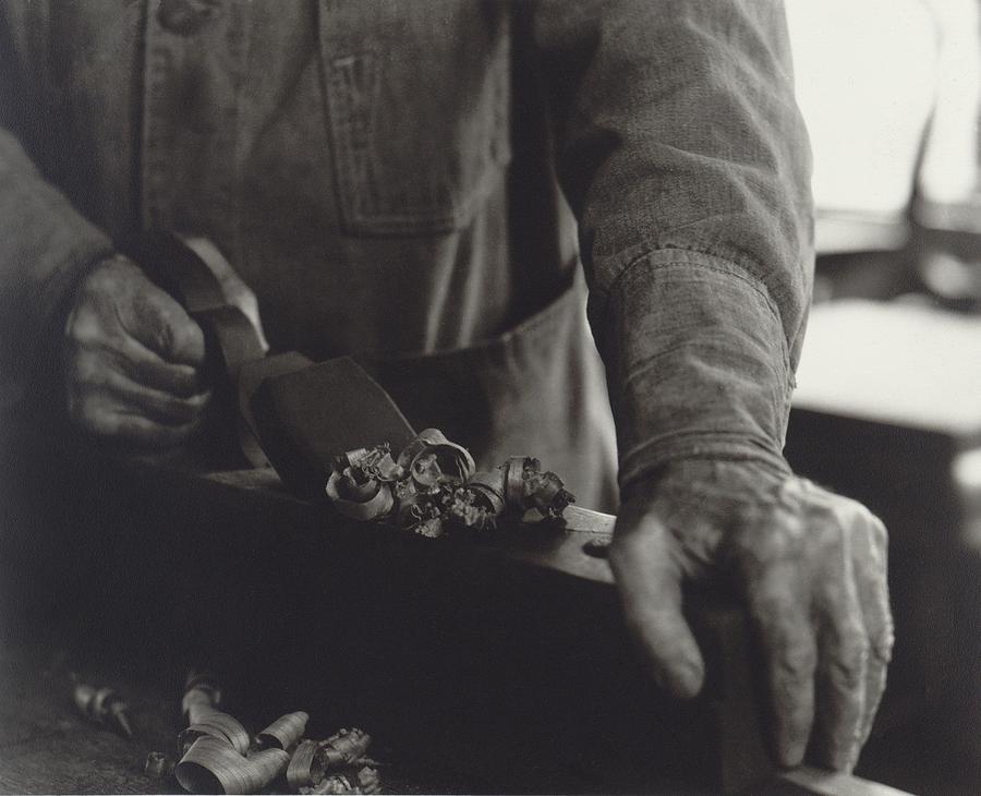History Photograph - Hands Of Shaker Brother Ricardo Belden by Everett