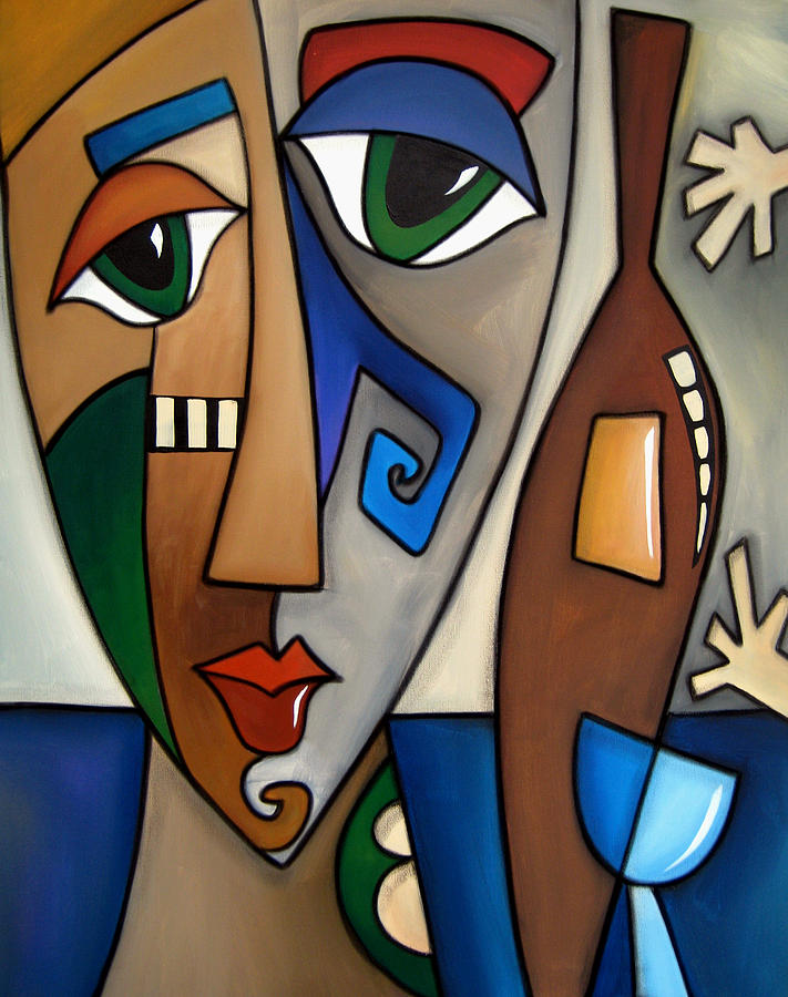 Abstract Art Paintings Painting - Hands Off My Wine By Fidostudio by Tom Fedro - Fidostudio