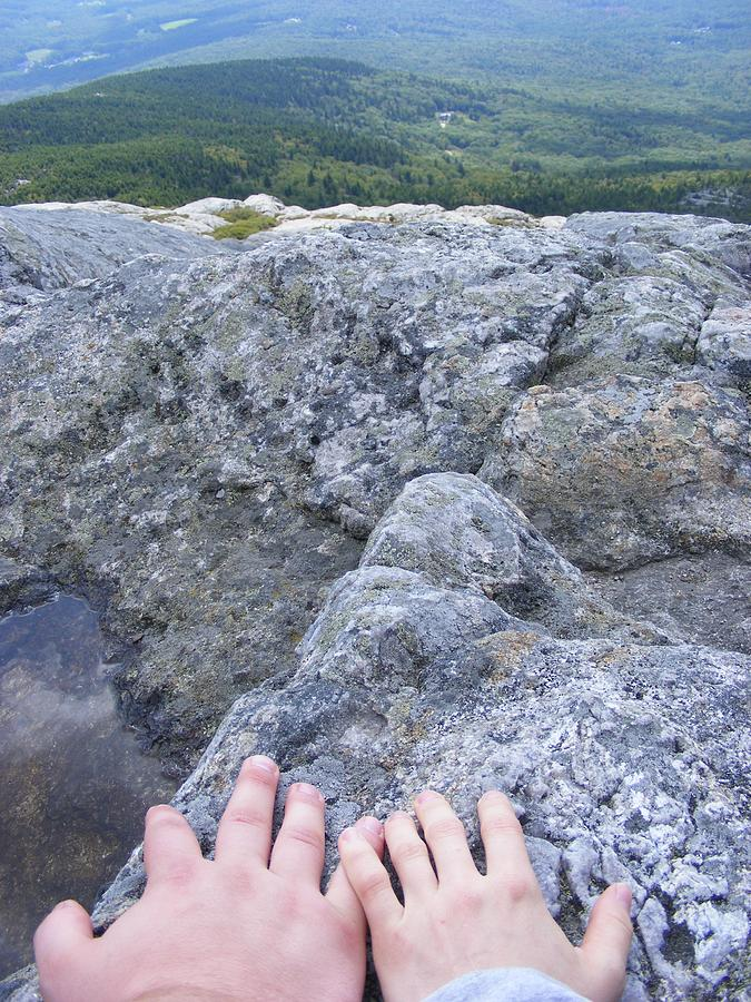 Mountain Photograph - Hands On The Mountaintop by Alison Heckard