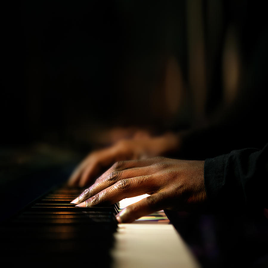 Hands Playing Piano Close-up Photograph by Johan Swanepoel
