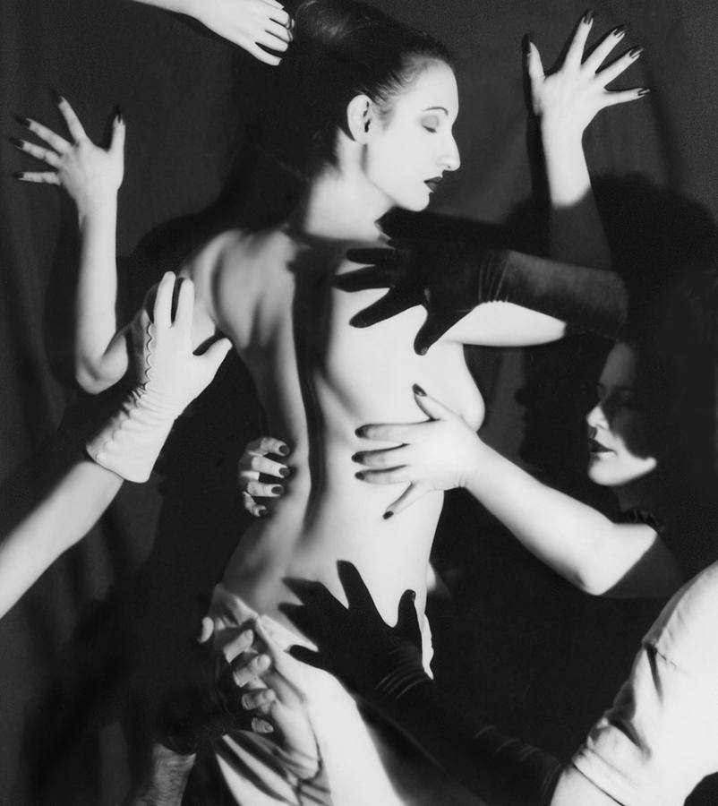 Artistic Photograph - Hands Upon Me by Jaeda DeWalt