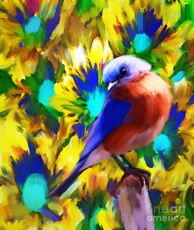 Handsome Bluebird Painting