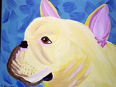 Pet Portraits Painting - Handsome Guy by Suzanne Filotei