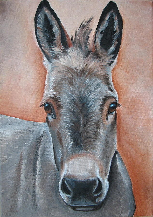 Donkey Painting - Handsome Hank by Laura Carey
