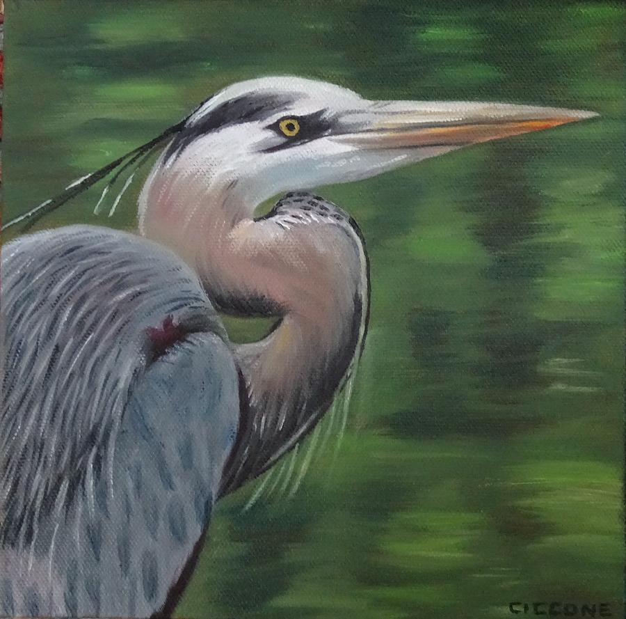 Handsome Heron by Jill Ciccone Pike