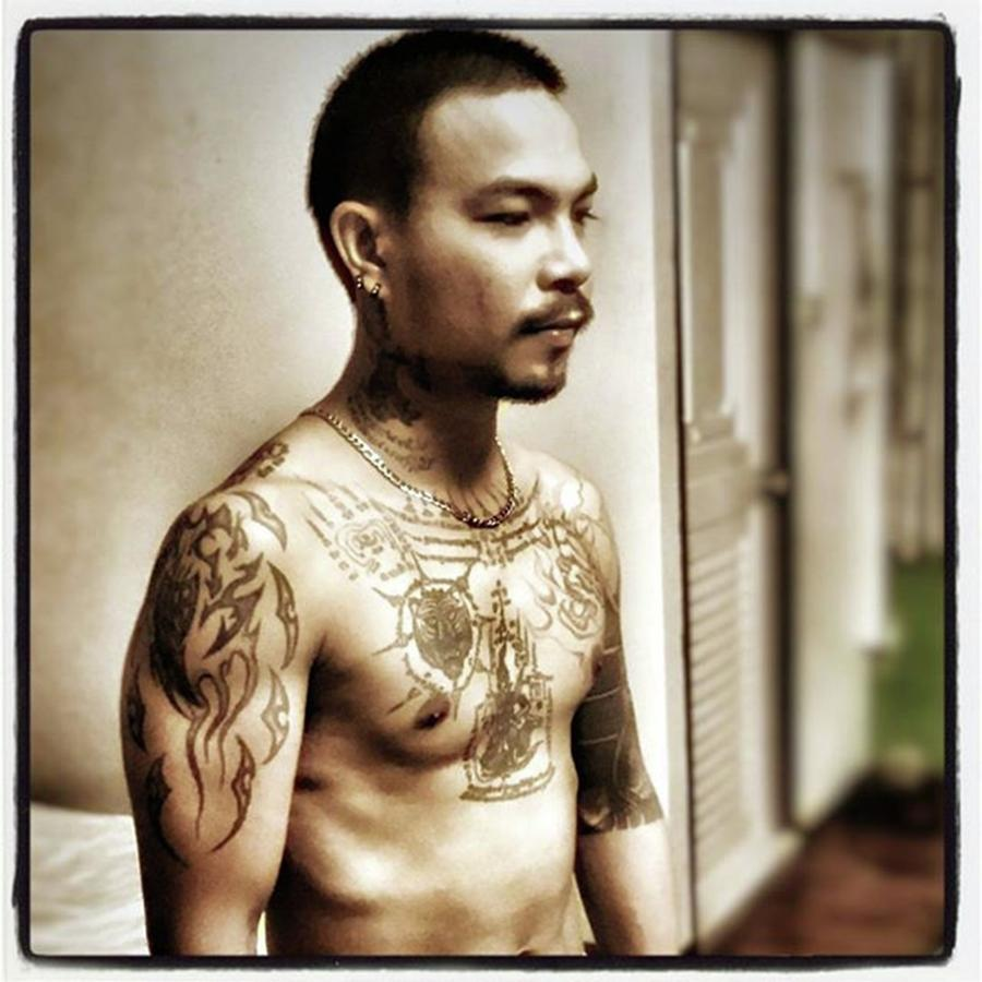 Tattoos Photograph - Handsome Man With Tattoos. #thailife by Mr Photojimsf