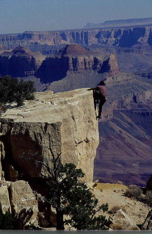 Grand Canyon Photograph - Hang On by Philip Kollen