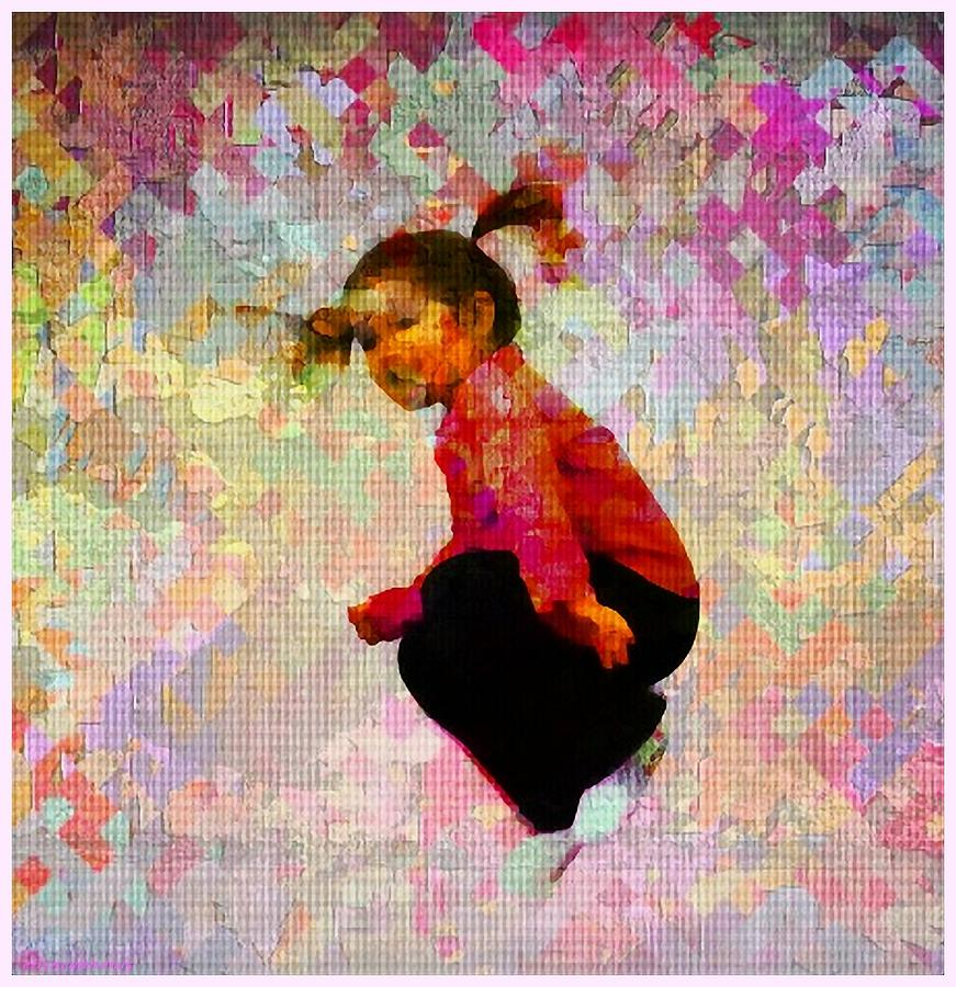 Child Photograph - Hang Time by Ellen Cannon