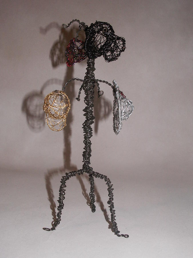 Hatrack Sculpture - Hang Your Hat by Charlene White