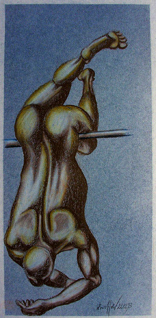 Figure Drawing - Hanging Around by Wolfgang - bookwood - Buchholz