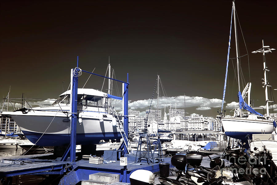 Boats Photograph - Hanging Boats by John Rizzuto