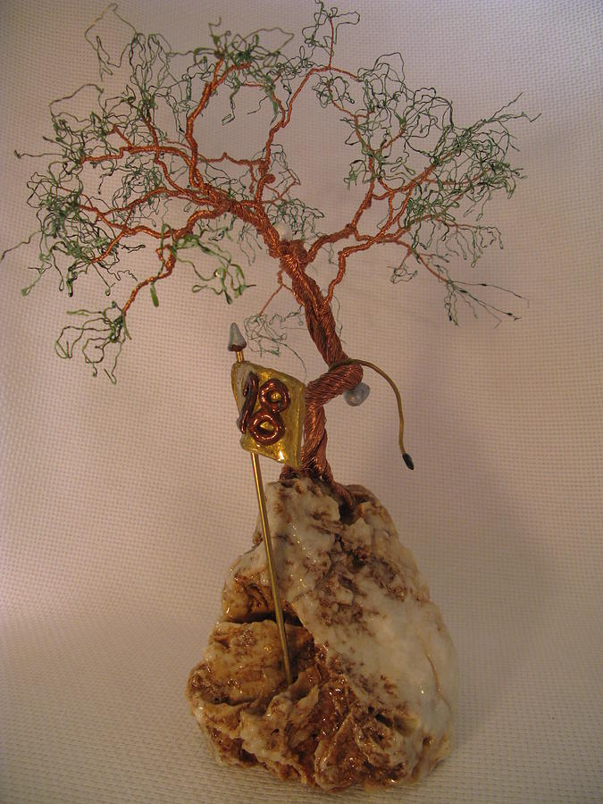 Metal Tree Sculpture - Hanging It Up by Judy Byington