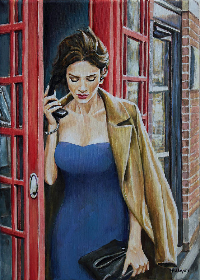 Hanging On The Telephone Painting By Andy Lloyd
