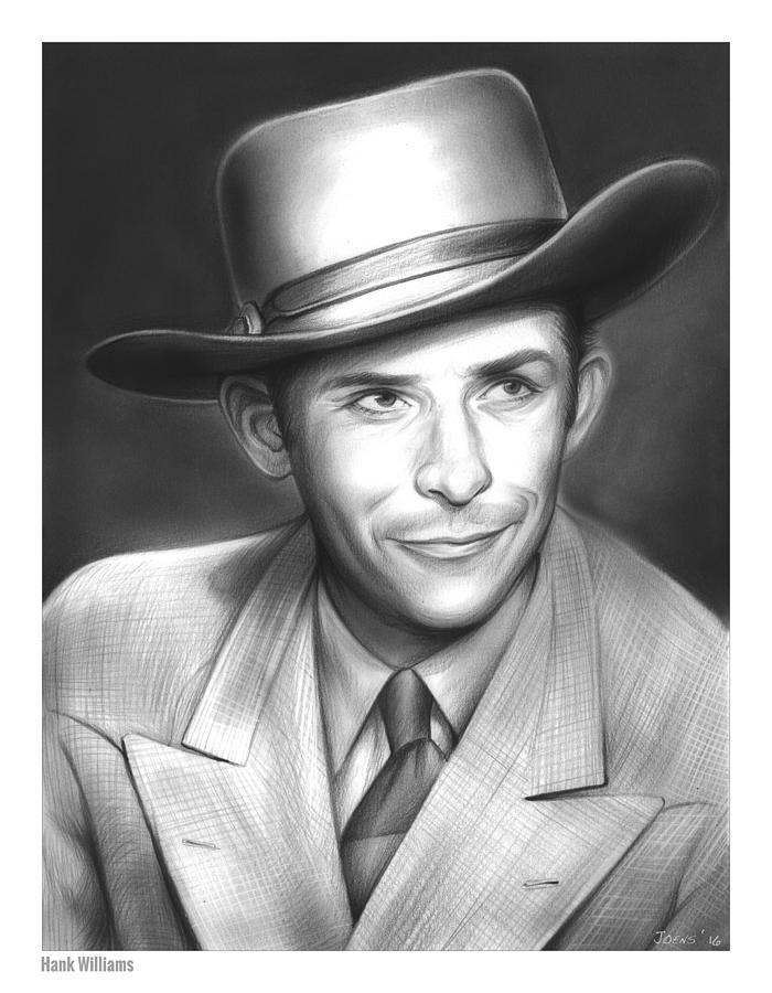 Hank Williams Drawing - Hank Williams by Greg Joens