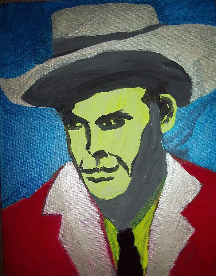 Portrait Painting - Hank Williams by Justin Myers