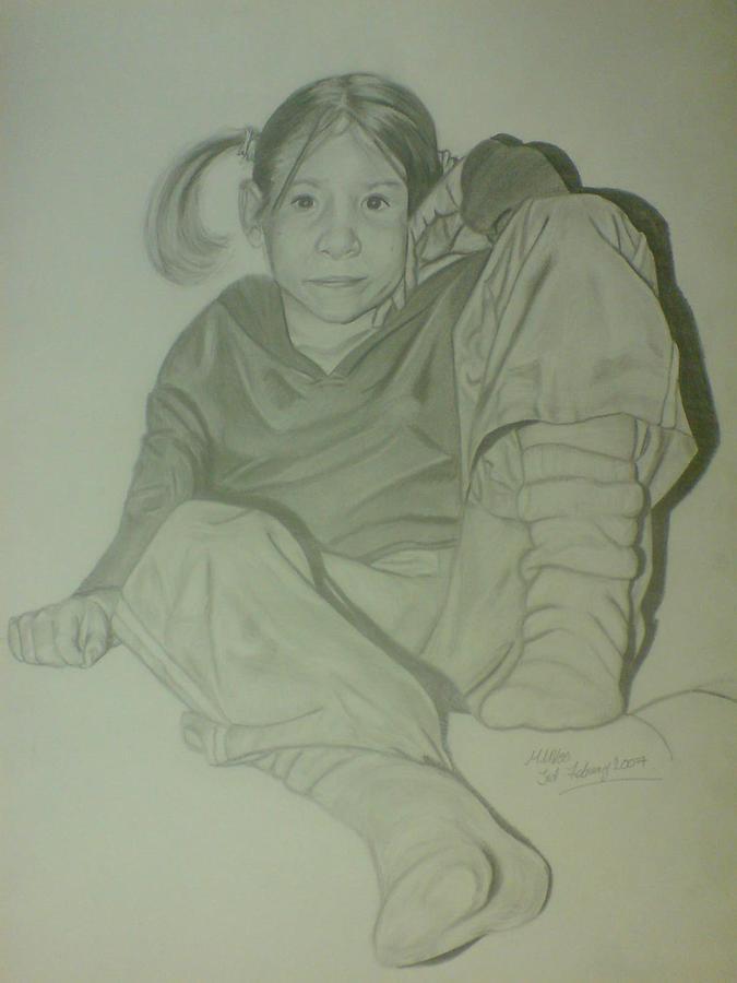 Hannah Drawing by Maria Vero