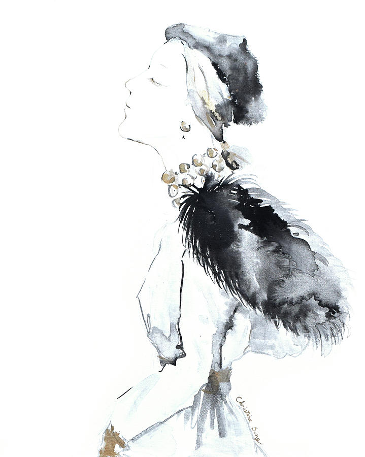 Fashion Illustration Painting - Hannah No. 2 by Christine Song