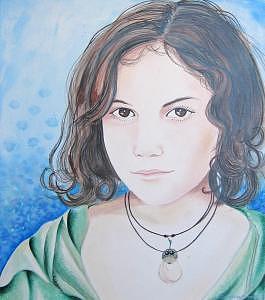 Hannah Painting by Samantha Bohn