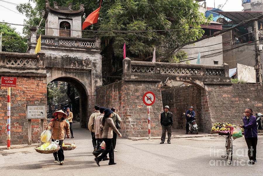 Vietnam Photograph - Hanoi Old East Gate 01  by Rick Piper Photography