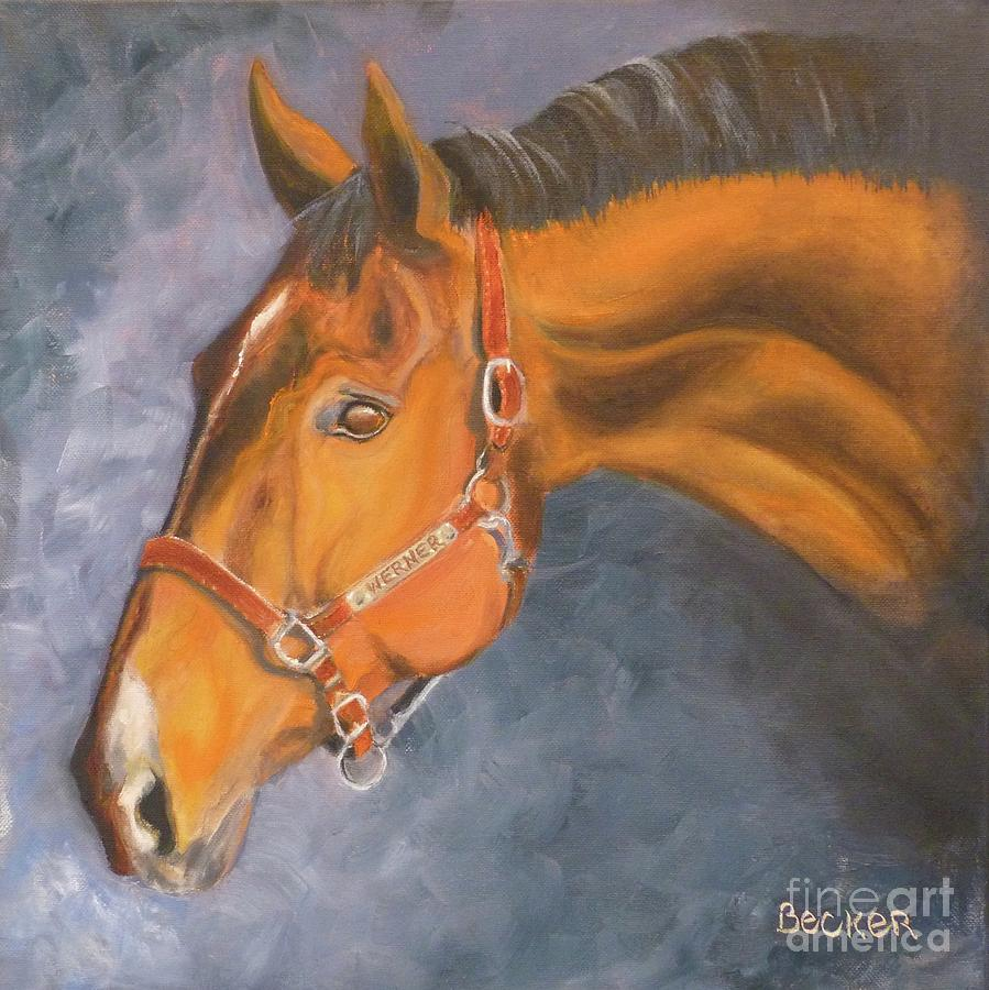 Hanoverian Warmblood Sport Horse by Susan A Becker