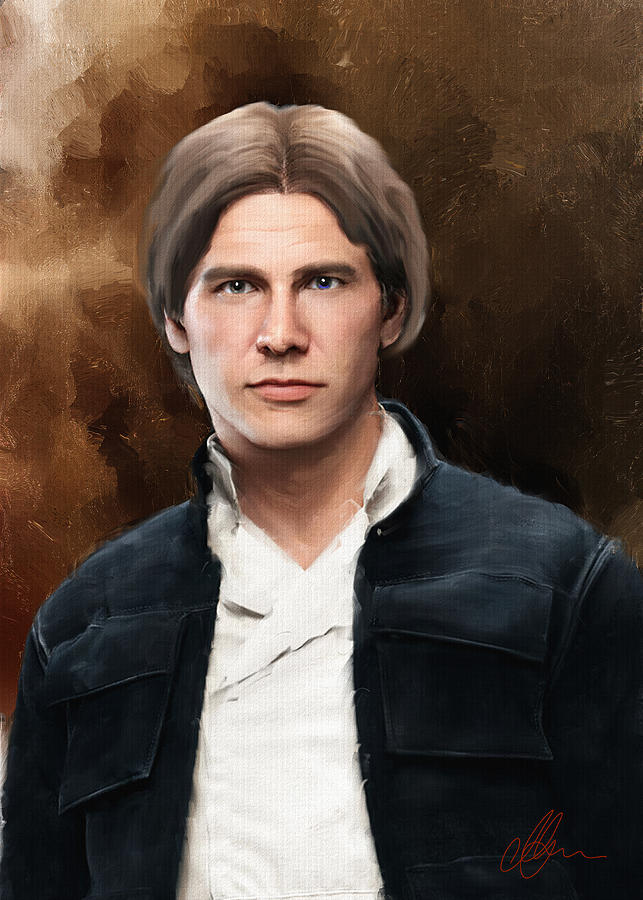 Hans Solo Painting - Hans Solo Star Wars  by Michael Greenaway