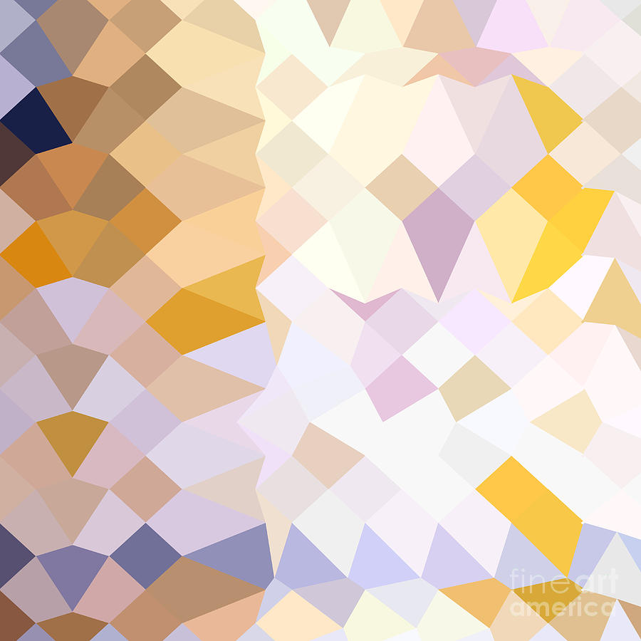 Abstract Digital Art - Hansa Yellow Abstract Low Polygon Background by Aloysius Patrimonio