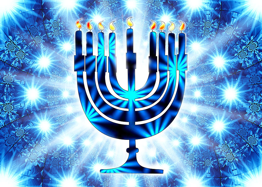 Hanukkah greeting card vii digital art by aurelio zucco hanukkah digital art hanukkah greeting card vii by aurelio zucco m4hsunfo