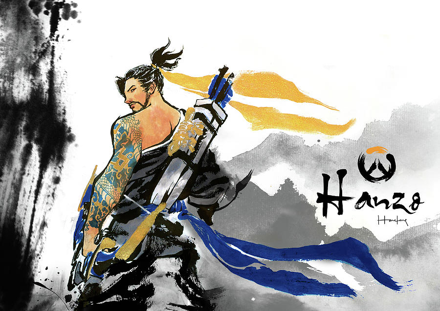 Hanzo Painting - Hanzo Overwatch by Haze Long