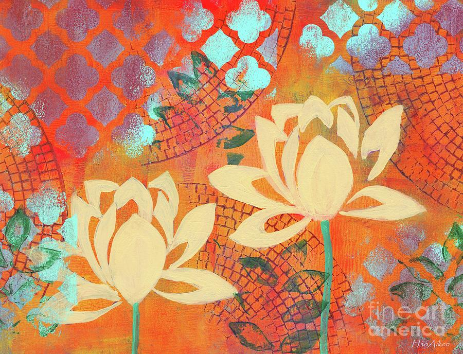 HAPPINESS ABSTRACT #2 LOTUS by Hao Aiken