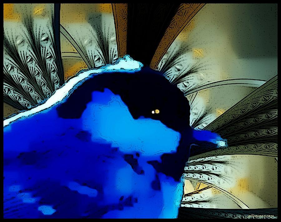 Bluebird Digital Art - Happiness by Ellen Cannon
