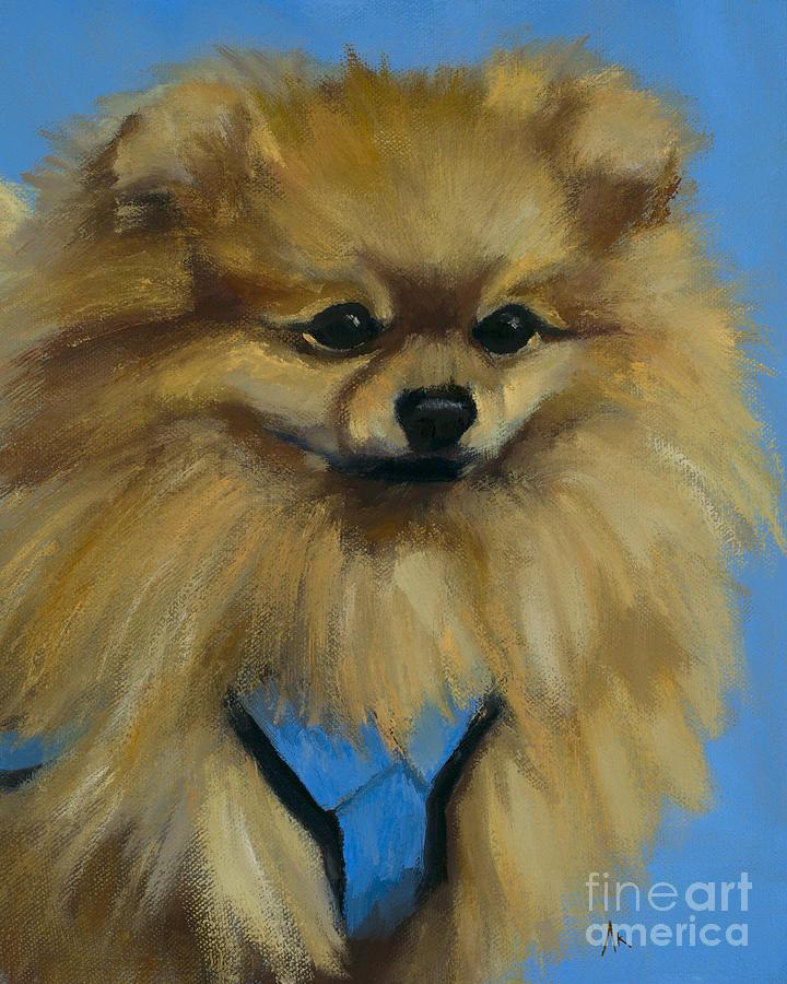 Pomeranian Painting - Happiness Is... Knox by Alyson Kinkade