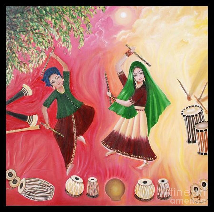 Figurative Painting - Happiness by Usha Rai