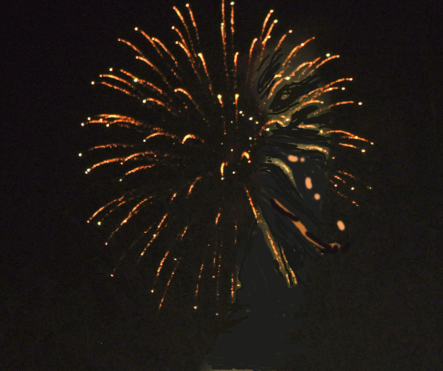 Color Photograph - Happy 4th.from Palm Desert 8 by Jay Milo