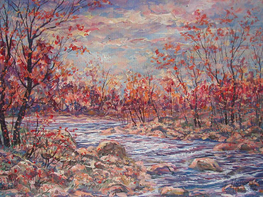 Landscape Painting - Happy Autumn Days. by Leonard Holland